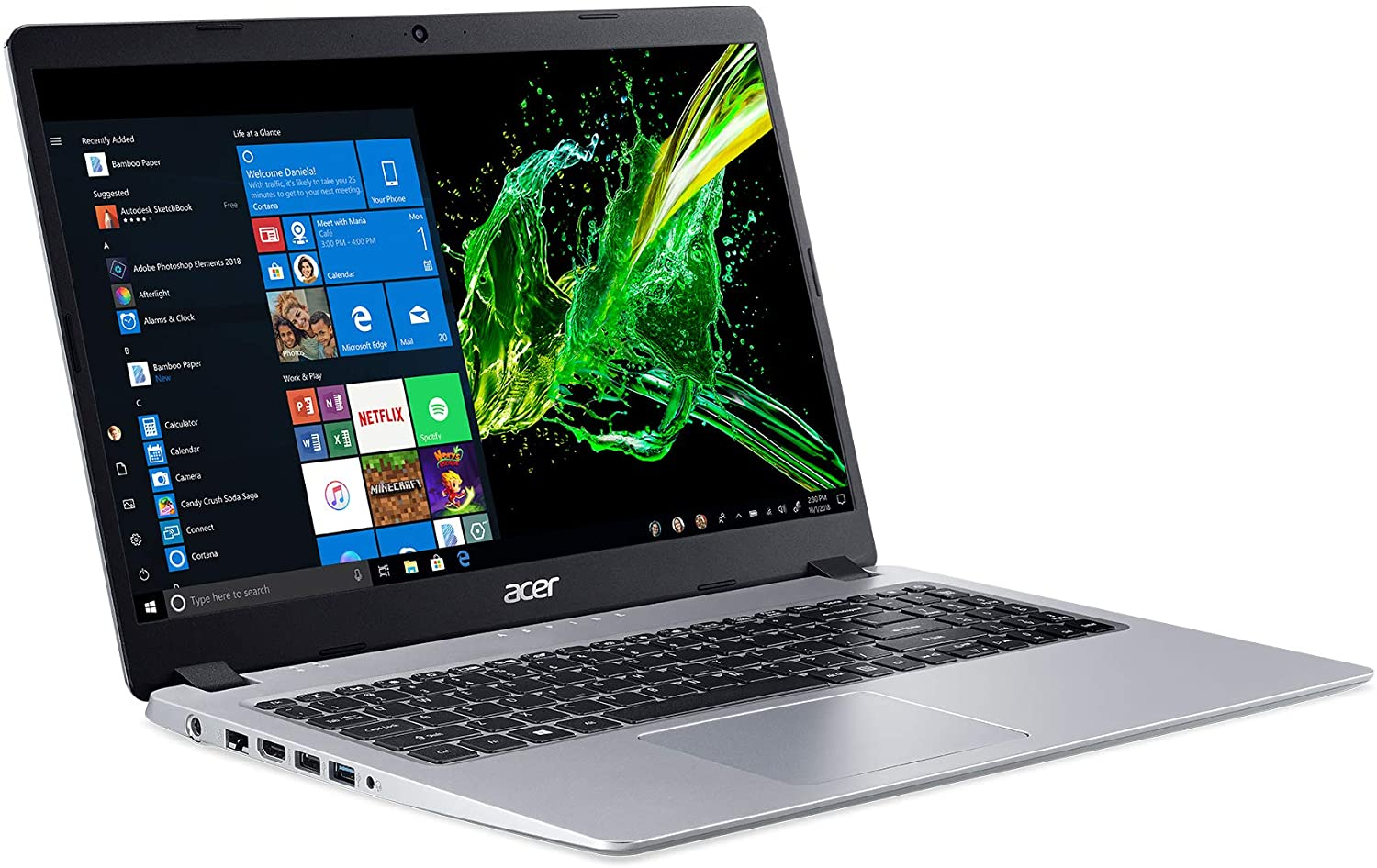 Acer Aspire 5 Slim Laptop with White Backpack 1