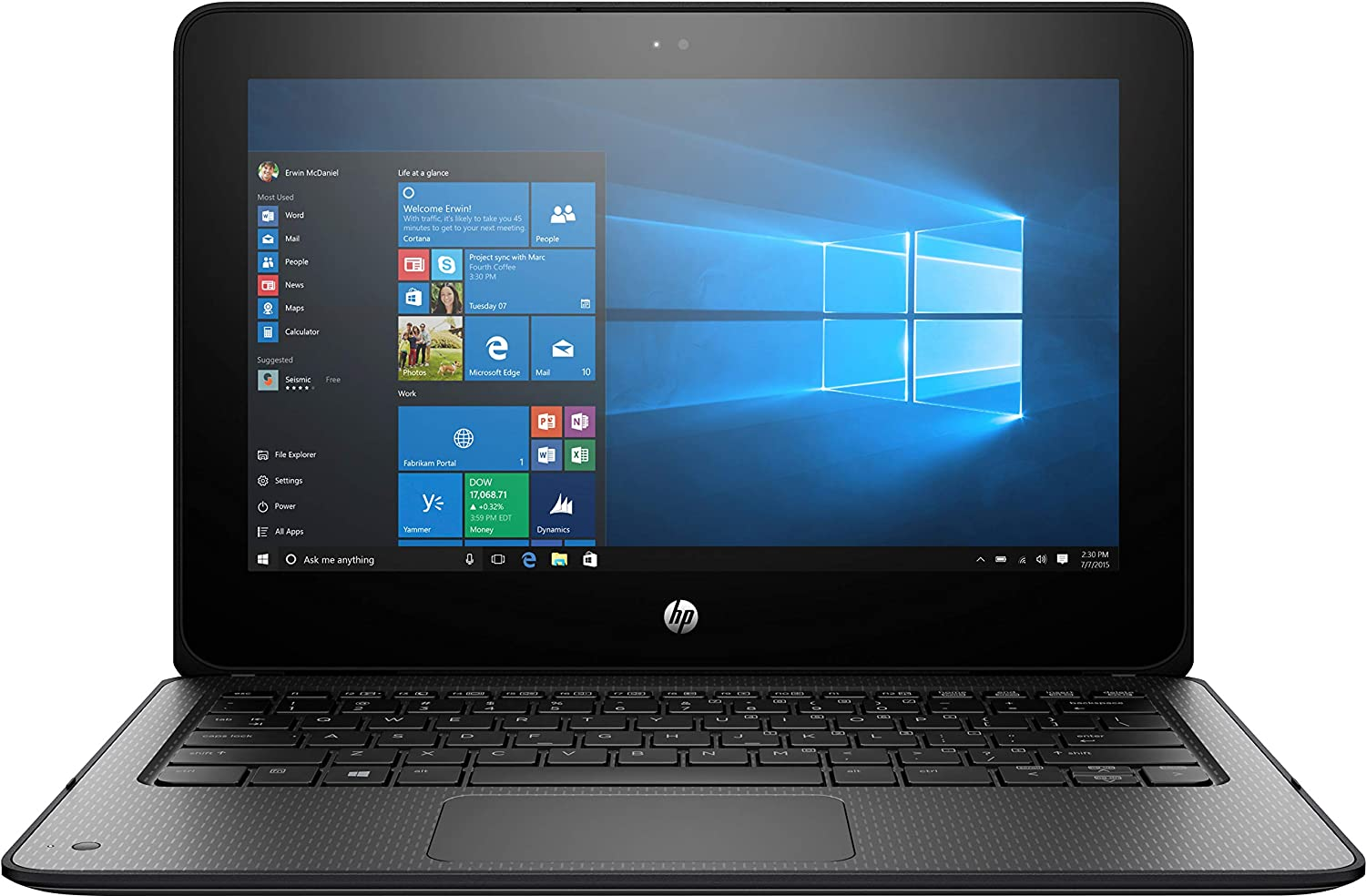 HP ProBook 11.6 Inch Touchscreen 2 in 1 Laptop