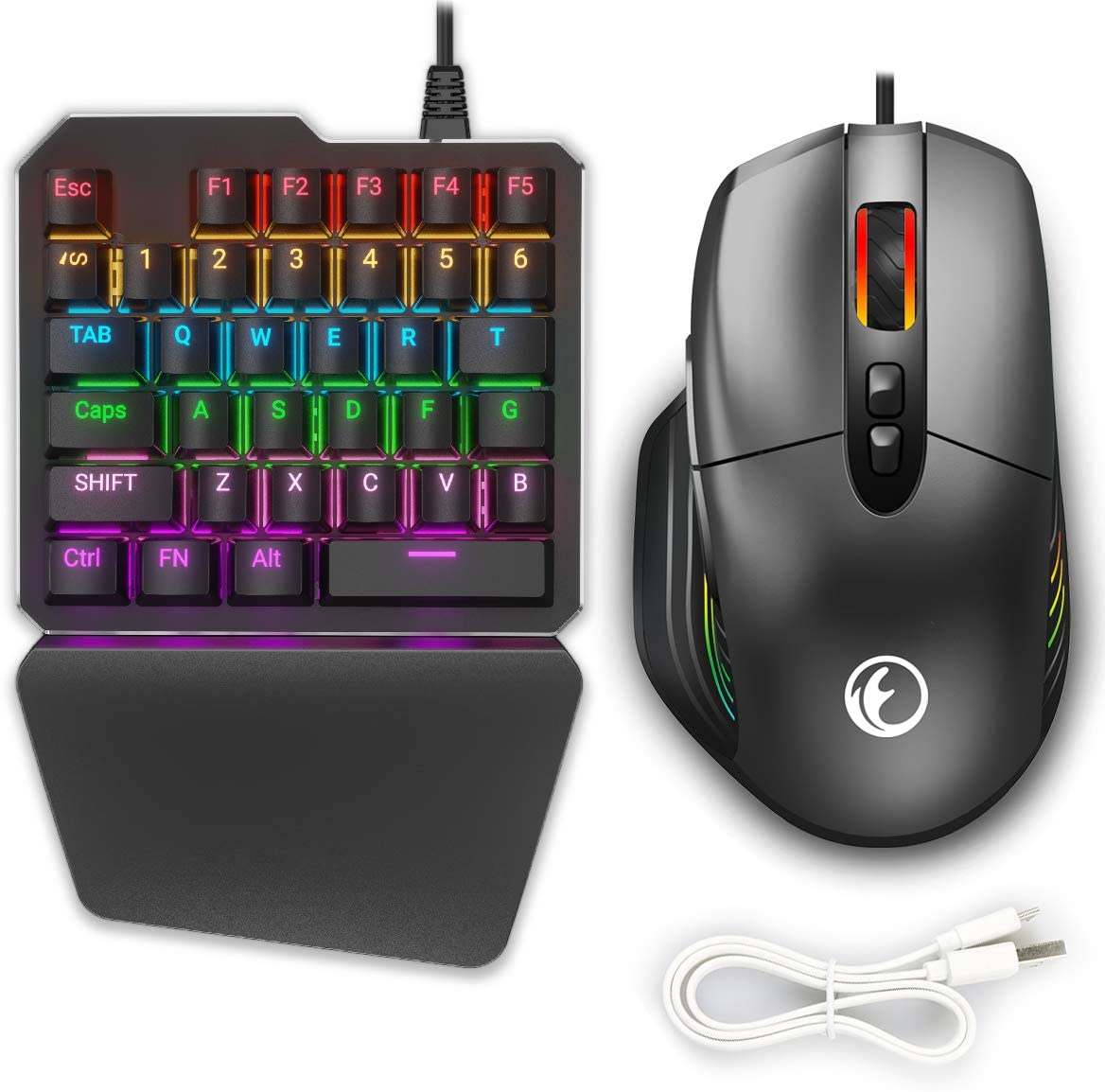 IFYOO KMAX1 Pro Wired Gaming Keyboard and Mouse Set Adapter