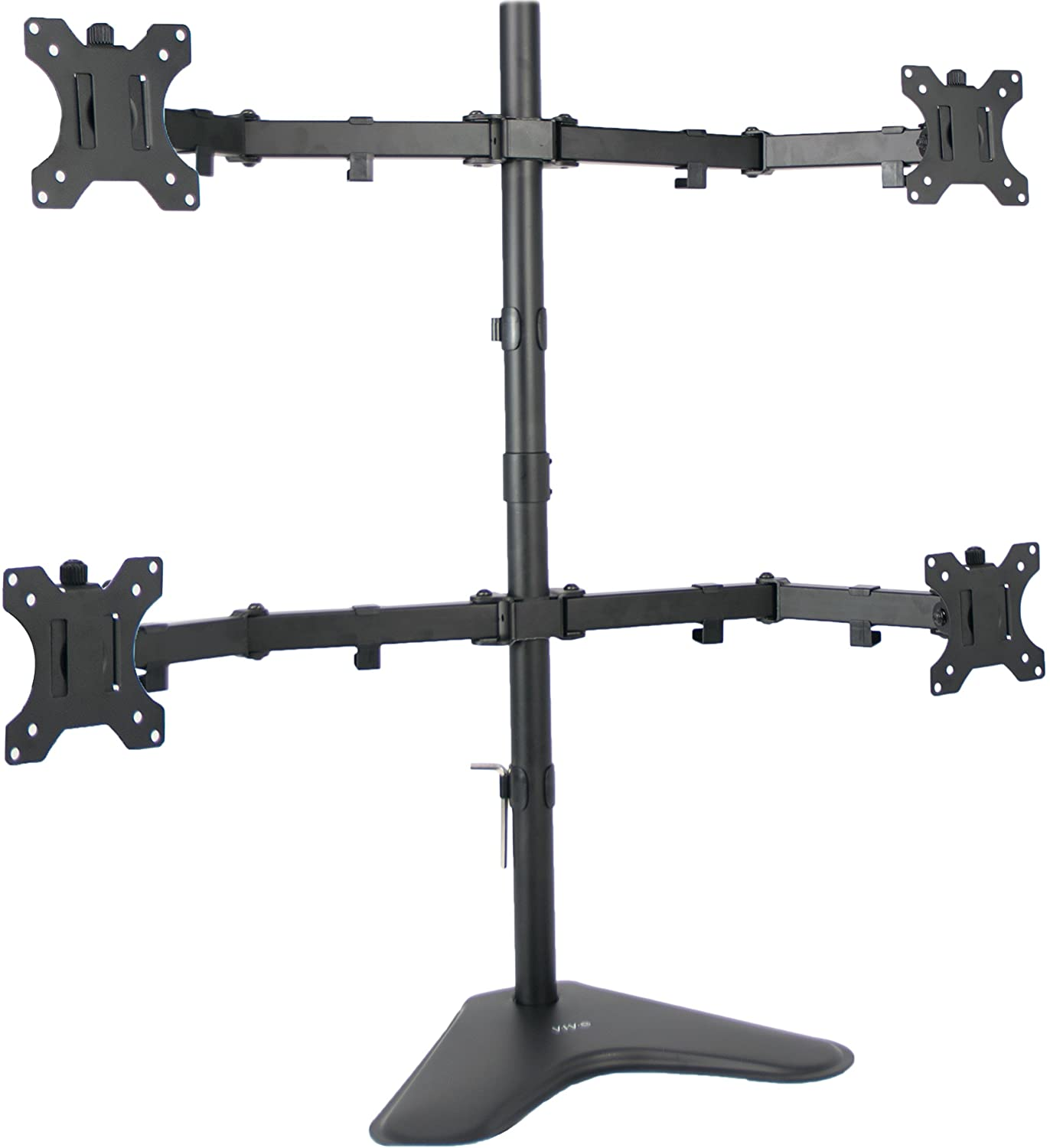 VIVO Quad LCD Computer Monitor Mount Free Standing Heavy Duty Desk Stand